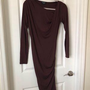 Bebe burgundy long dress